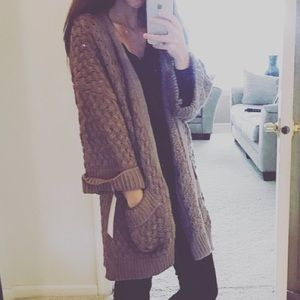 Sweaters - Oversized Cardigan